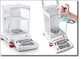 ohaus pr sente une balance con ue pour un pesage professionnel de pr cision l 39 explorer semi micro. Black Bedroom Furniture Sets. Home Design Ideas