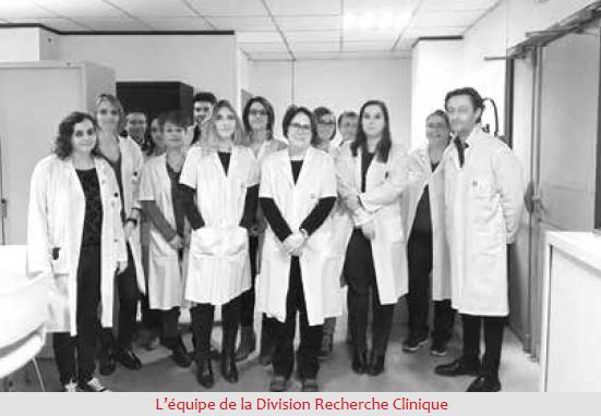 L'équipe de la division Recherche clinique